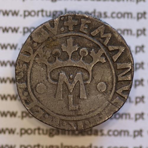 Vintém Prata de D. Manuel I 1495-1521, (não classificada no A. Gomes) ✚EMANVEL:P:R:P:ET:A:D:GV: / ✚EMANVEL:P:R:P:ET:A:D:GVI: