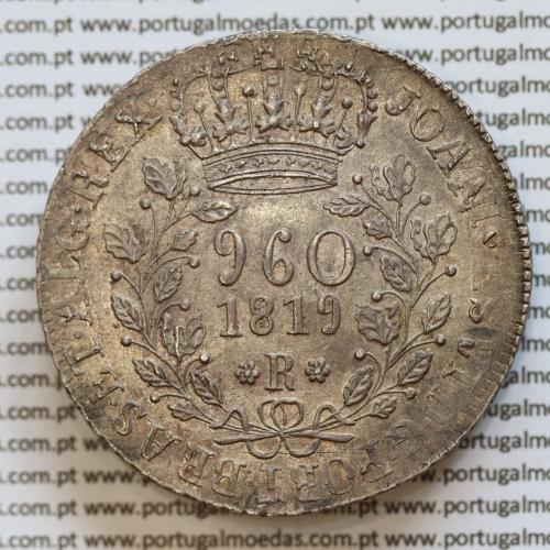 "960 Réis 1819 Prata D. João VI (Brasil) ou Patacão prata 1819 Brasil, ""R"" Rio de Janeiro, (Soberba), World Coins Brasil KM326.1"