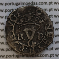 Vintém ou 20 reais prata de D. João III 1521-1557, Rara (R-L / P-O) Porto, Legenda: ✥IOANES:3:R:PORTVGA /✥IOANES:3:REI:PO: