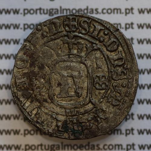 Moeda Grave em Bolhão D. Fernando I 1367-1383, Lisboa, (14 Dinheiros) Legenda: ☩SI:DN˙S:MICHI:AIVTOR:N / ☩FERNANDVS:REX:PORTVG: