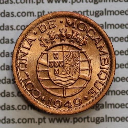 20 centavos 1949 Bronze de Moçambique, (Soberba) $20 Bronze 1949 Moçambique Ex-Colónia Portuguesa - World Coins Mozambique KM75