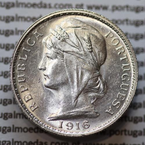20 centavos prata 1916, (vinte Centavos Prata), (Bela / Sob)