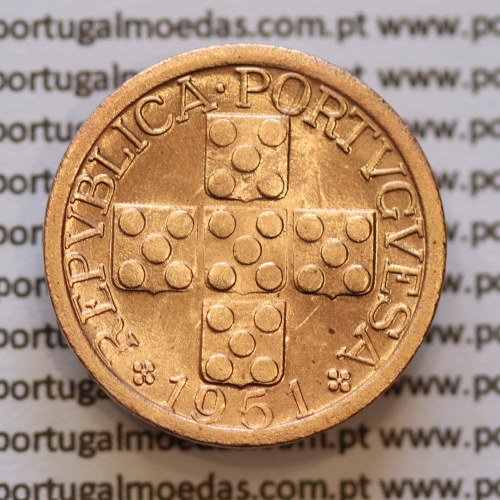 """Moeda XX centavos 1951 Bronze, """"20 centavos 1951"""" (Soberba) rara neste estado conservação - World Coins Portugal  KM584"""