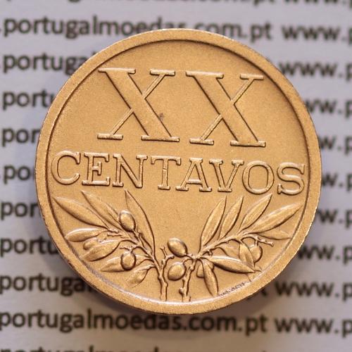 "Moeda XX centavos 1951 Bronze, ""20 centavos 1951"" (Bela) World Coins Portugal  KM584"