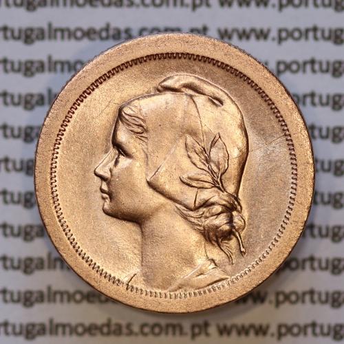 Moeda 10 centavos 1925 Bronze, dez centavos, (soberba), World Coins krause Portugal KM573