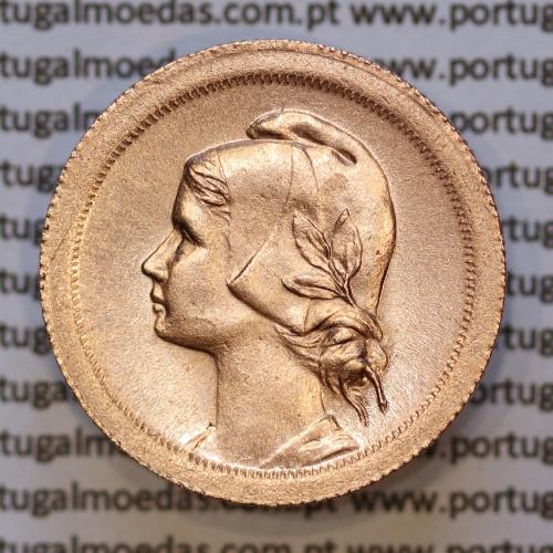 Moeda 10 centavos 1925 Bronze, dez centavos, (Bela /Soberba), World Coins krause Portugal KM 573