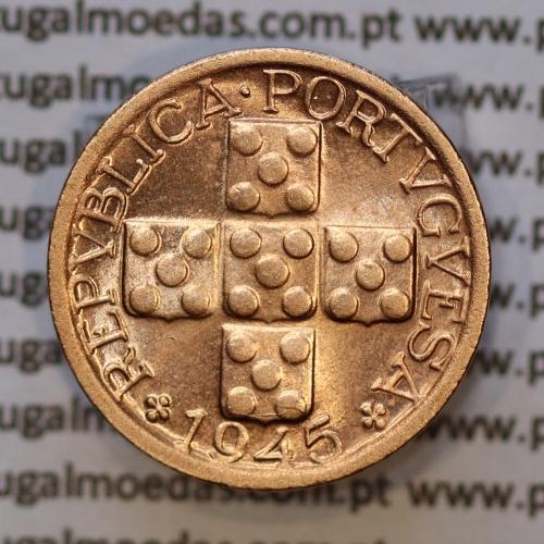 "Moeda X centavos 1945 Bronze, ""10 centavos 1945"" (Soberba) - World Coins Portugal  KM583"