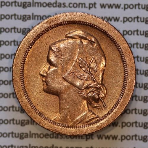 20 centavos 1925 Bronze, vinte centavos, (MBC+/Bela-), World Coins krause Portugal KM 574