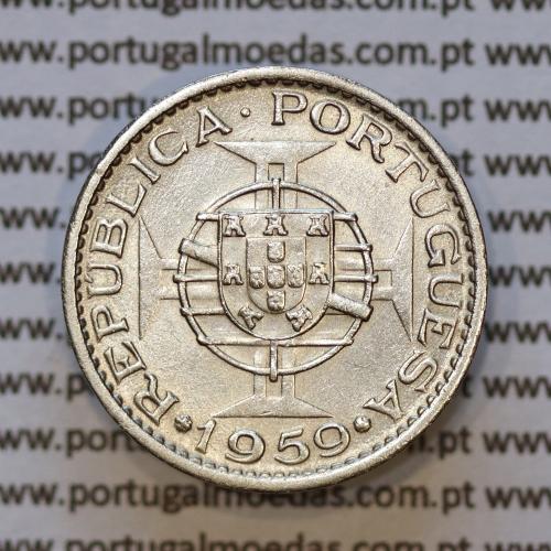 "60 centavos alpaca 1959 India, ""$60 alpaca 1959"" (MBC+/Bela), Estado da India Portuguesa - World Coins India Portuguese KM 32"