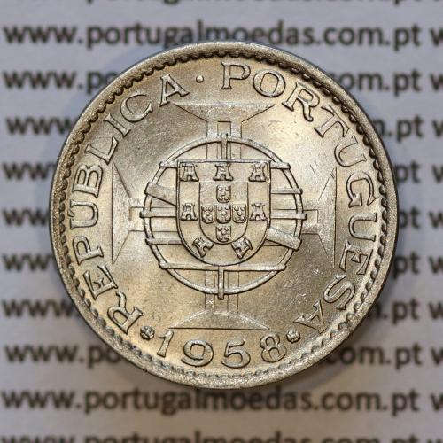 "60 centavos alpaca 1958 India, ""$60 alpaca 1958"" (Soberba), Estado da India - World Coins India Portuguese KM 32"