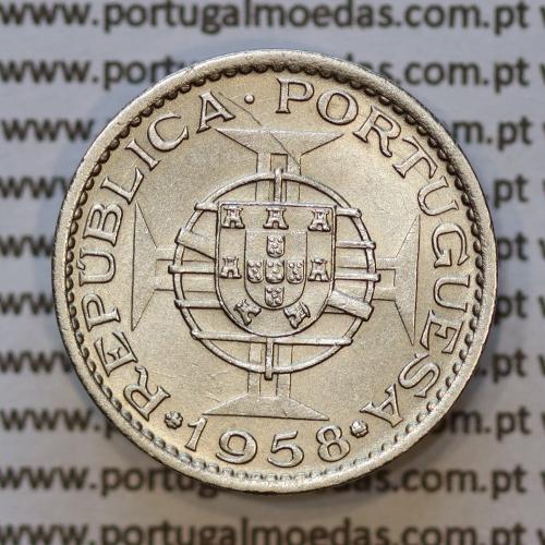 "60 centavos alpaca 1958 India, ""$60 alpaca 1958"" (Bela), Estado da India - World Coins India Portuguese KM 32"