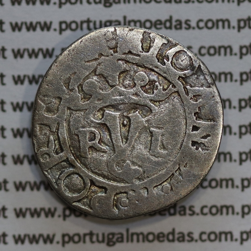 "Vintém prata de D. João III 1521-1557, (20 Reais prata) ""RyL"" sem numeral, Legenda: ✧IOANES:R:PORTGA / •✧•IOANES.3.R.PORTVGAL"
