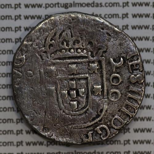 Meio Cruzado prata D. João IV 1640-1656, Lisboa, 200 Réis prata Legenda ✤IOANNES IIII DG REX PORTVGALIE / ✤IN.HOC.SIGNO.VINCES