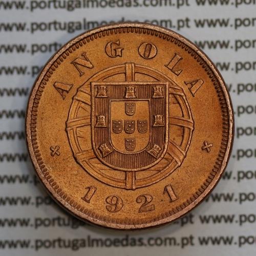 """Angola 5 Centavos 1921 Bronze, (""""$05"""" cinco centavos 1921 Angola), (BELA), Ex-Colónia Portuguesa - World Coins Angola KM 62"""