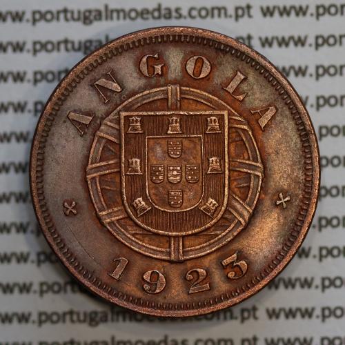 """Angola 5 Centavos 1923 Bronze, (""""$05"""" cinco centavos 1923 Angola), (BELA), Ex-Colónia Portuguesa - World Coins Angola KM 62"""