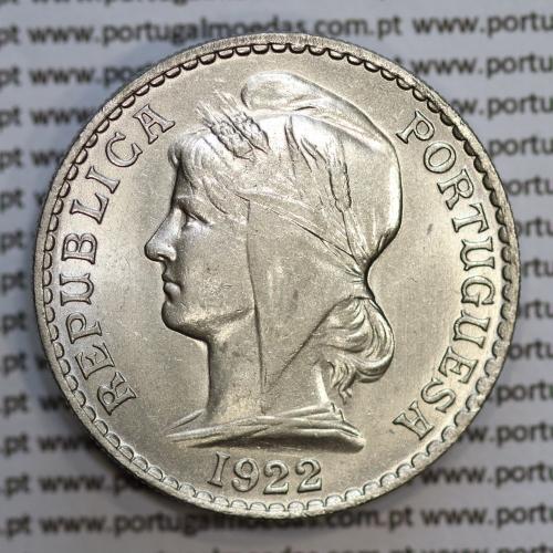 """Angola 50 Centavos 1922 Níquel, (""""$50"""" cinquenta centavos 1922), (Bela), Ex-Colónia Angola - World Coins Angola KM 65"""