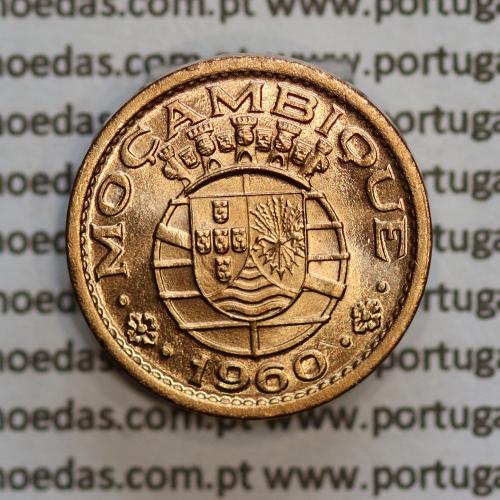 """Moçambique,10 centavos 1960 Bronze, """"$10"""" centavos bronze 1960, (Soberba) Ex-Colónia Portuguesa - World Coins Mozambique KM83"""