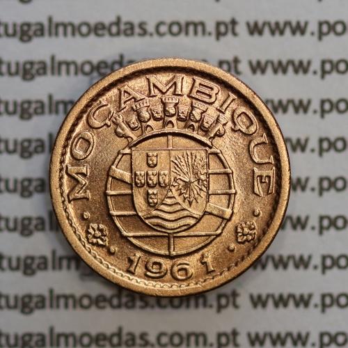 """Moçambique,10 centavos 1961 Bronze, """"$10"""" centavos bronze 1961, (Soberba) Ex-Colónia Portuguesa - World Coins Mozambique KM 83"""