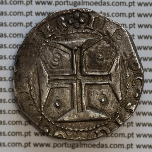 Meio Cruzado prata D. João IV 1640-1656, 200 Réis, Legenda ✤IOANNES IIII DG REX PORTVGALIE / ✤IN.HOC.SIGNO.VINCES, KM 49