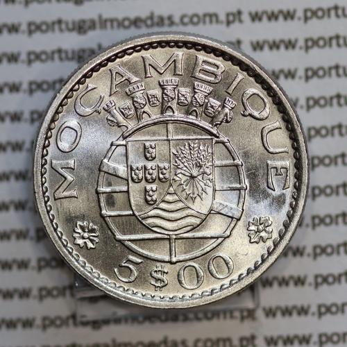 """Moçambique 5$00 1973 cuproníquel, """"cinco escudos 1973"""" (Soberba), 5 Escudos 1973 World Coins Mozambique KM 86"""