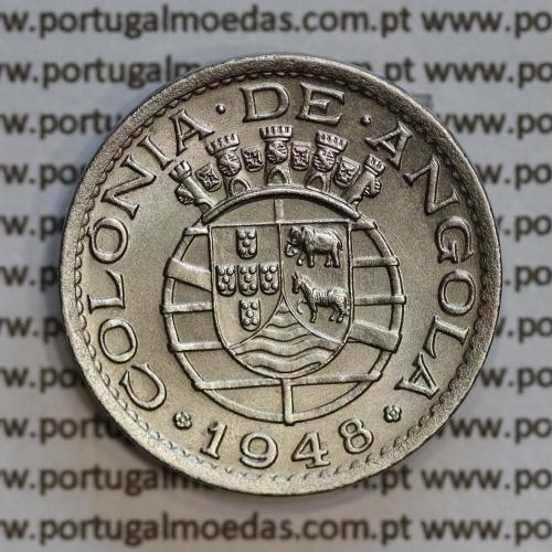 "Angola 50 Centavos 1948 Alpaca, (""$50"" cinquenta centavos 1948 Angola), (Soberba), Ex-Colónia Angola, World Coins Angola KM 72"