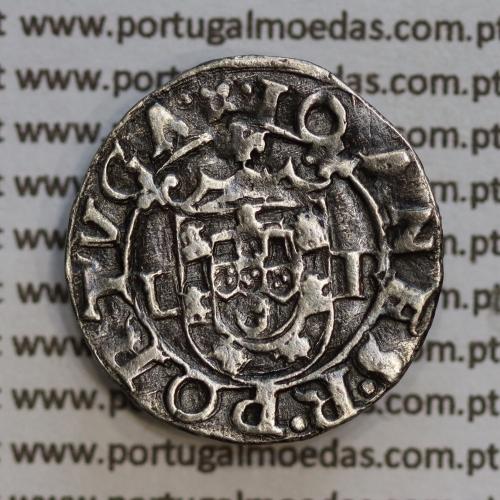 Vintém prata de D. João III 1521-1557, (○-L / L-R), não classificada Legenda: ⌘IOANS:R:PORTVGALI / •⌘•IOANES•R•PORTVGA