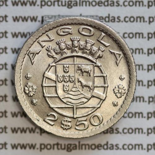Angola 2$50 1953 cuproníquel, (2 escudos e 50 centavos 1953), (Bela/Soberba) 2 1/2 Escudos 1953 World Coins Angola KM 77