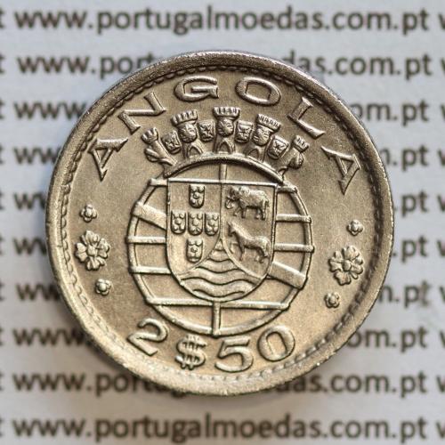 Angola 2$50 1956 cuproníquel, (2 escudos e 50 centavos 1956), (Bela/Soberba) 2 1/2 Escudos 1956  World Coins Angola KM 77