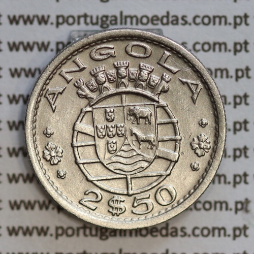 Angola 2$50 1967 cuproníquel, (2 escudos e 50 centavos 1967), (MBC+/Bela) 2 1/2 Escudos 1967  World Coins Angola KM 77