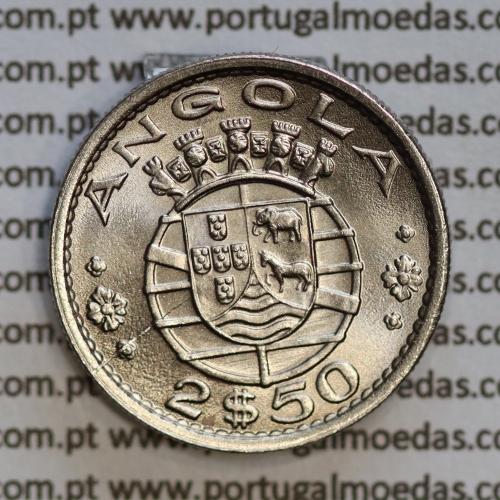 Angola 2$50 1974 cuproníquel, (2 escudos e 50 centavos 1974), (Soberba) 2 1/2 Escudos 1974 Nickel  World Coins Angola KM 77