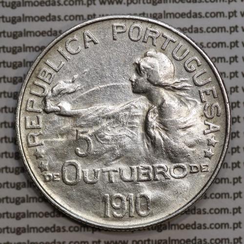 1 Escudo 5 Outubro 1910 em prata, (1$00 escudo prata 1914 comemoração da Implantação da República), World Coins Portugal  KM 560