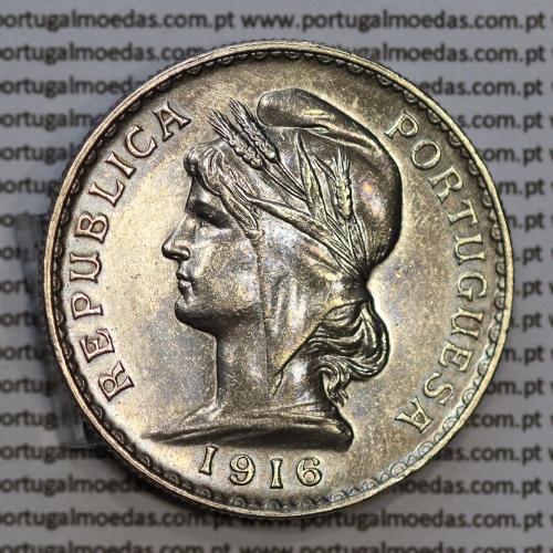 1 Escudo 1916 prata, (1$00 escudo prata 1916), (MBC+), 1 Escudo Silver 1916 World Coins Portugal  KM 564