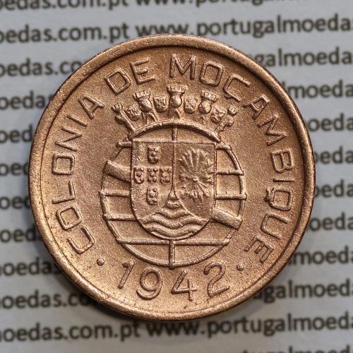 "Moçambique 10 centavos 1942 cobre, ""$10"" centavos cobre 1942, (MBC) Ex-Colónia Moçambique, World Coins Mozambique KM 72"