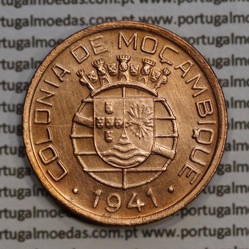 Moeda 20 centavos 1941 Cobre de Moçambique, $20 Cobre 1941 Moçambique Ex-Colónia Portuguesa - World Coins Mozambique KM71