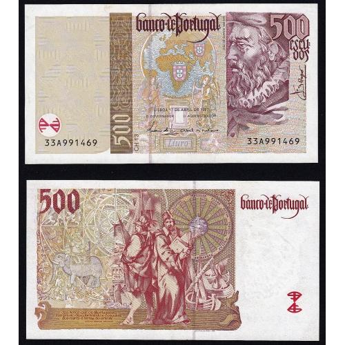 Nota de 500 Escudos 1997 João de Barros, 500$00 17/04/1997 Chapa: 13 - Banco de Portugal (Pouco Circulada)