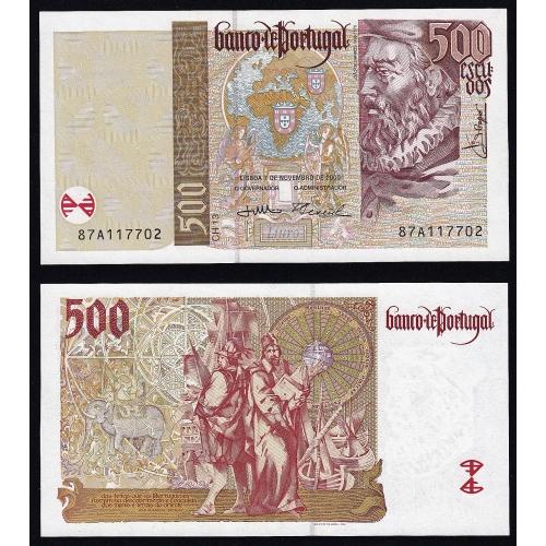 Nota de 500 Escudos 2000 João de Barros, 500$00 07/11/2000 Chapa: 13 - Banco de Portugal (Pouco Circulada)