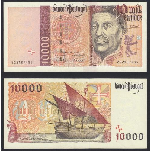 Nota de 10000 Escudos 1996 Infante D.Henrique, 10000$00 02/05/1996 Chapa: 2- Banco de Portugal (Pouco Circulada/Nova)