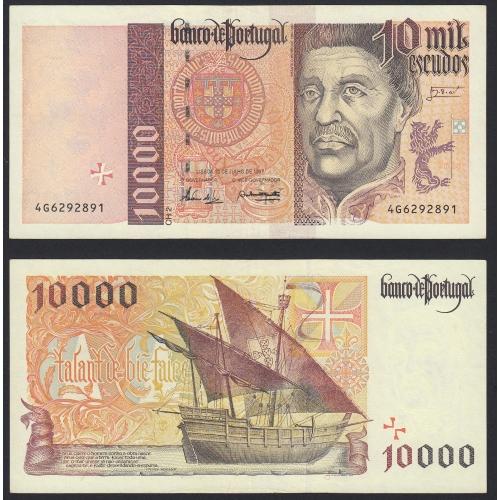 Nota de 10000 Escudos 1997 Infante D.Henrique, 10000$00 10/07/1997 Chapa: 2- Banco de Portugal (Pouco Circulada/Nova)