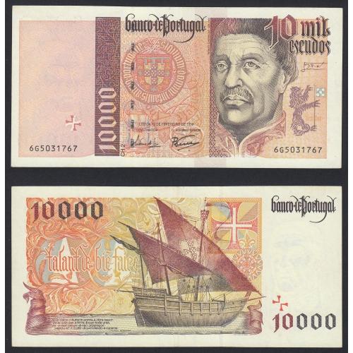 Nota de 10000 Escudos 1998 Infante D.Henrique, 10000$00 12/02/1998 Chapa: 2- Banco de Portugal (Pouco Circulada/Nova) c/defeito