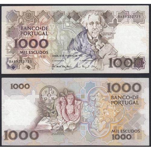 Nota de 1000 Escudos 1992 Teófilo Braga, 1000$00 06/02/1992 Chapa: 12 - Banco de Portugal (Pouco Circulada)