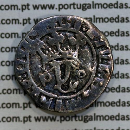 Vintém Prata de D. João II 1481-1495, Porto, Escudo sem Bordadura, Legenda: +CI: ET VL:DOMINVS:GVINE / +IOhANES:II:R:P:ET:A:GVIN