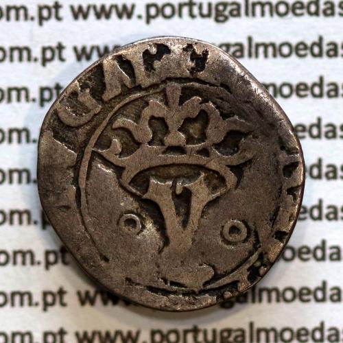 Vintém prata de D. João III 1521-1557, (20 Reais), A. Gomes J3.35.07, Legenda: ˙⋋˙IOANES:3:R:PORTVGAL / ˙⋋˙IOANES:3:PORTVGAL