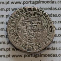 Vintém Prata de D. João II 1481-1495, Porto, A. Gomes 20.05, Legenda: ✚IOHANES:I•I:R:P:ET:A:D:G: / ✚IOANES:I•I:R:P:ET:A:D:GVINE: