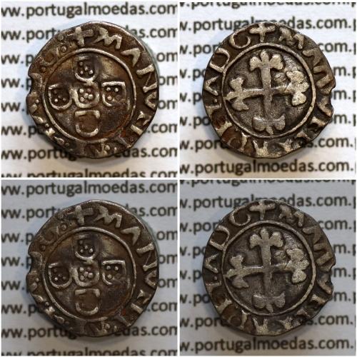 Meio Vintém Prata de D. Manuel I 1495-1521, Lisboa, (Não Classificada) Legenda: +MANVEL:P:R:P:ET:A:D:G: / +MANVEL:P:R:P:ET:ADG