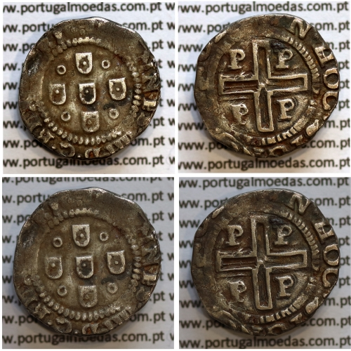 Meio Tostão prata D. João IV 1640-1656, (Porto), Legenda: ✤IOANNES•IIII•D•G•REX•PORT / ✤IN•HOC•SIGNO•VINCES