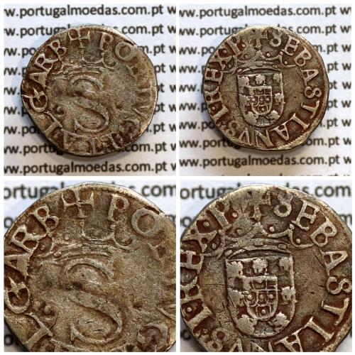 Vintém prata, D. Sebastião I (1557 -1578) Vintém ou 20 Reais em prata - ✠PORTVG:ET ALGARB / ✠SEBASTIANVS.I.REX.P. ( um besante)