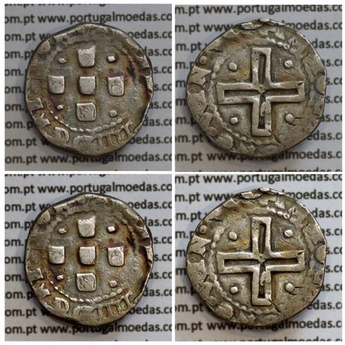 Meio Tostão prata D. João IV 1640-1656, não classificada A. Gomes, Legenda: ✤IOANNES IIII D G REX POR / ✤IN•HOC•SIGNO•VIN•CES