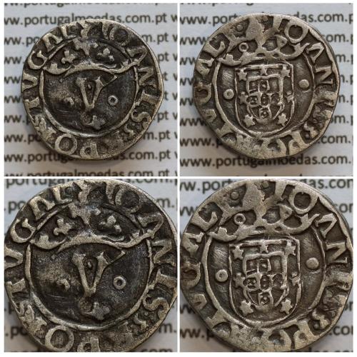 Vintém prata de D. João III 1521-1557, (20 Reais), A. Gomes J3.35.02, Legenda: ˙⋋˙IOANES:3:R:PORTVGAL / ˙⋋˙IOANES:3:PORTVGALI