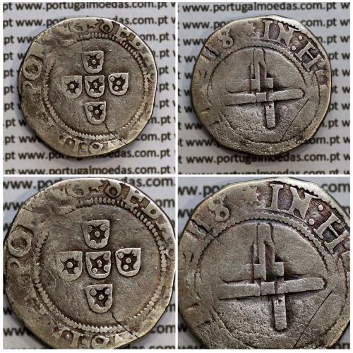 Meio Tostão prata, D. Sebastião I (1557 -1578), (50 Reais), Legenda:  ✸SEBASTIANVS:I:REX.PORTVG / ✸IN:HOC:SIGNO:VINCES