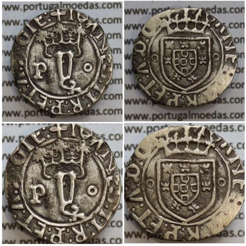 Vintém Prata de D. João II 1481-1495, Porto, A. Gomes 20.24, Legenda: ✚IOANES:I•I:R:P:ET:A:D:GIE: / ✚IOANES:I•I:R:P:ET:A:D:GIE